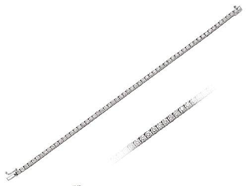 Bracelet Rivière de Diamants 4.81 Carats -Femme- or Blanc 206B0020