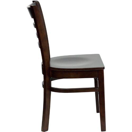 Flash Furniture HERCULES Series Ladder Back Walnut Wood Restaurant Chair