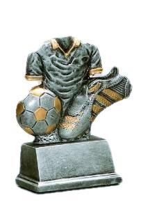 Fussball-Pokal (resin) mit Ihrem Wunschtext graviert.
