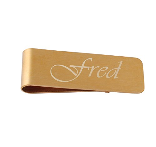 Money Clip Engraved Gifts (GP Personalized Engraved Gold Money Clip with Gift Box for Cash & Cards)