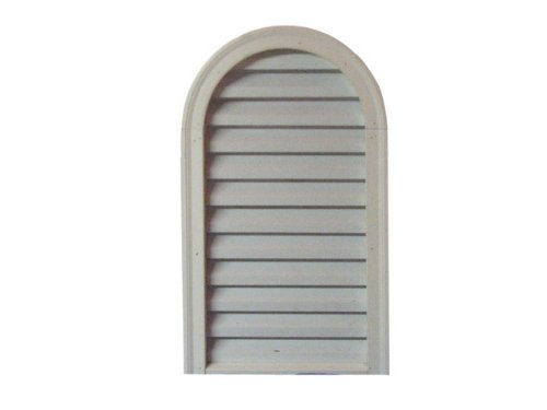 Round Top with Brick Mould, PVC, 24'' width x 36'' height