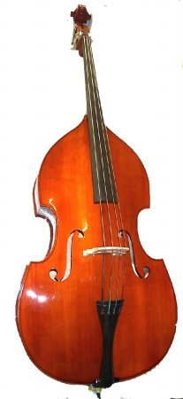 Merano 3/4 Size Student String Bass with Bag,Bow,Bridge+2 Sets of Strings+Black Music Stand+Rosin by Merano