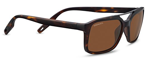 Serengeti Renzo Sunglasses Satin Tortoise Frame/Satin Dark Gunmetal, Brown