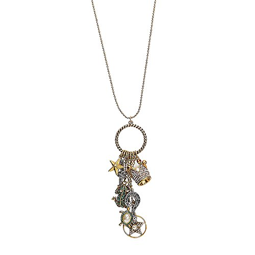 Marc Jacobs Women's 28-in Gold-Tone Cluster Charm Pendant - Marc Charm Jacobs By Necklace Marc