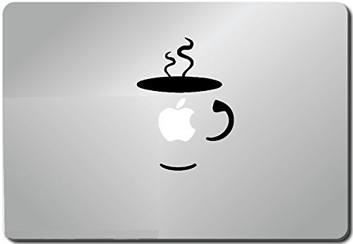 Price comparison product image Coffee Cup-apple Macbook Ipad Laptop Vinyl Decal Sticker Skin Cover Computer Sticker Computer Decal Decal Mac Decal for Mac Laptop Sticker Laptop Decal Newest Version Macbook Pro Laptop Quotes