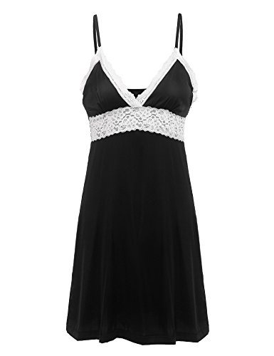 Ekouaer Womens Lace Full Slip Sleepwear Chemise Lounge, used for sale  Delivered anywhere in Canada