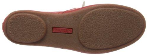 Rojo Para Cuero Zapatos De 7123 Mujer Carmin Cordones Calabria Pikolinos awSqY8x