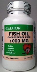 Major Fish Oil Cholesterol Free 1000MG 100 Soft Gels
