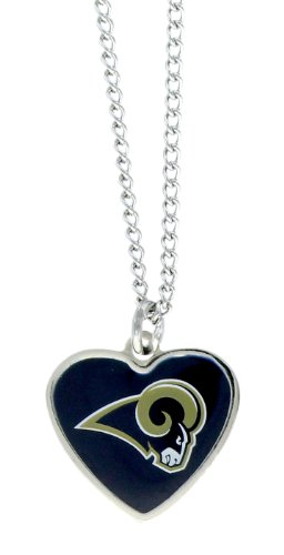 NFL St. Louis Rams Color Logo Heart Pendant ()