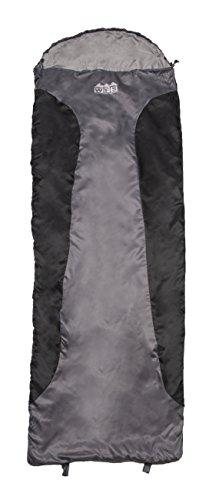 - World Famous Sports Ultra Lite 40-50 Degree Sleeping Bag, Black/Grey
