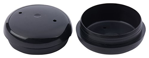 Project Patio 1-1/2 Inch Deluxe Round Cup Insert Glide End Cap for Wrought Iron Patio Furniture Chairs 24-Pack Black