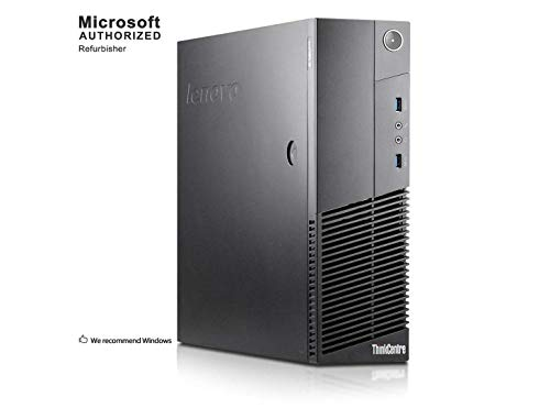 Lenovo ThinkCentre M83 Small Form Business High Performance Desktop Computer PC (Intel Core Pentium G3220 3.0G,8G RAM DDR3,500GB HDD,DVD-ROM,WIFI, Windows 10 Professional)(Renewed)