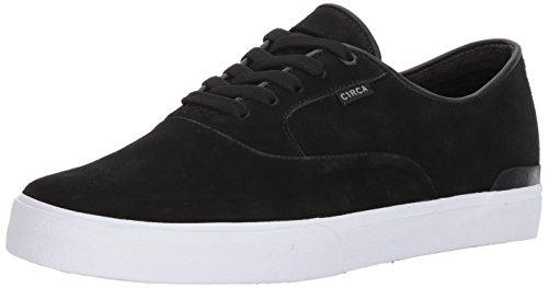 C1RCA Mens 100187 Kingsley Low Durable Cushioned Insole Skate Skateboarding Shoe Black/Paloma Gray