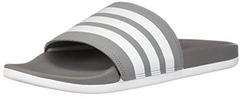 15f8f72d4 adidas Men s Adilette Comfort Slide Sandal White Grey
