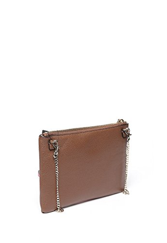 Guess liya petite crossbody clutch mocha multi