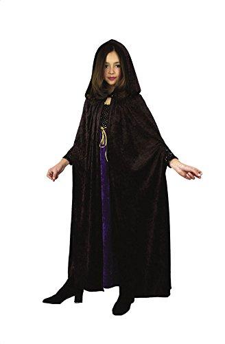 Charades Velvet Children's Costume Cloak, Black
