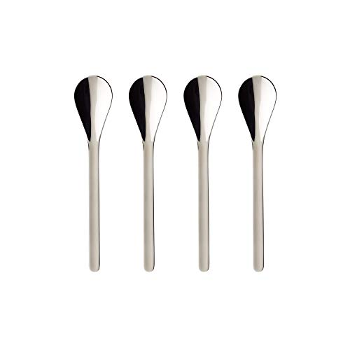 (Coffee Passion Coffee Spoon Set of 4 by Villeroy & Boch - 18/10 Stainless Steel - Dishwasher Safe - 5.5 Inches)