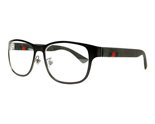 Gucci GG 0013O 004 Brown Metal Square Eyeglasses 55mm ()