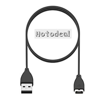 Hotodeal 3.3ft 1m Replacement USB Charger Cable for Fitbit Charge Hr Bands Wireless Activity Bracelet Wristband (in Retail Package)