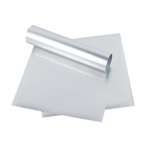 RUSPEPA Heat Transfer Vinyl HTV - Iron On for Silhouette Cameo & Cricut - HTV for Fabrics and Hats - 12x12Inch - 3sheet - Silver