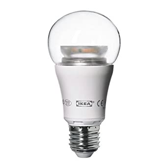 Ikea LEDARE LED bulb E26, 600 Lumens, Dimmable, Globe Clear ...