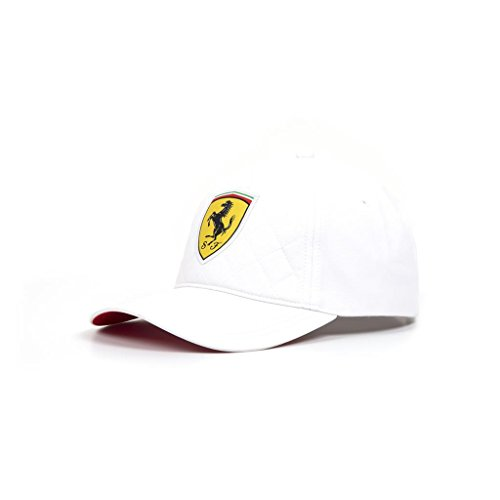 (Scuderia Ferrari Formula 1 2018 White Quilt Stitch Hat Cap)