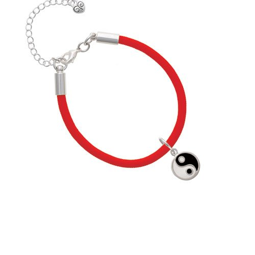 Delight Jewelry Enamel Yin and Yang Malibu Paracord Bracelet