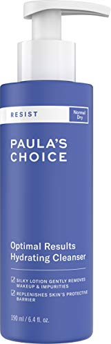 Paula's Choice RESIST Optimal Results Hydrating Cleanser | Green Tea & Chamomile | Anti-Aging Face Wash | Dry Skin | 6.4 Ounce (Best Eye Cream In Your 50s)