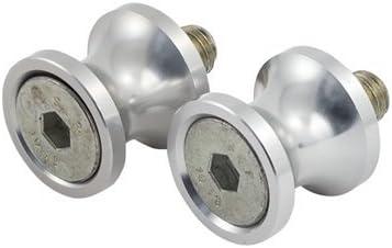 SPEEDMETAL Aluminum Swingarm Spools 8mm Silver