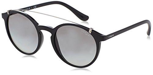 Vogue VO 5161S W44/11 Black Plastic Round Sunglasses Grey Gradient ()
