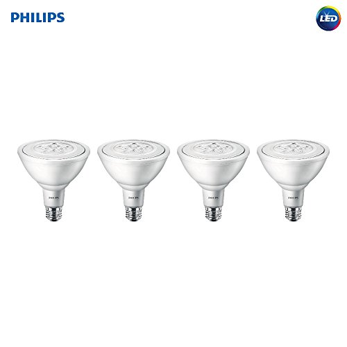 Philips LED Non-Dimmable PAR38 25-Degree Spot Light Bulb: 1000-Lumen, 5000-Kelvin, 11-Watt (90-Watt Equivalent), E26 Base, Daylight, 4-Pack