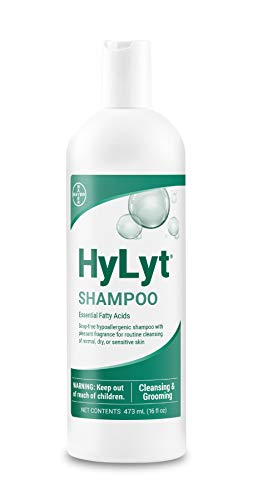 Bayer HyLyt Shampoo, soap-free cleansing and moisturinzing shampoo, hypoallergenic for Dogs, Cats and Horses, 16 (Best Hypoallergenic Dog Shampoos)
