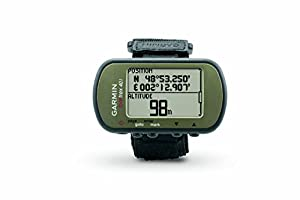 Green GPS with display showing data