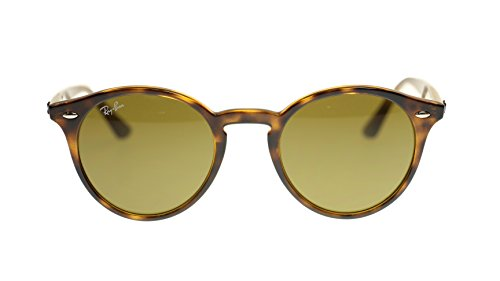 Ray Ban Unisex Sunglasses RB2180 710/73 Dark Havana/Dark Brown Lens Round 51mm - Ray Ban Oakley