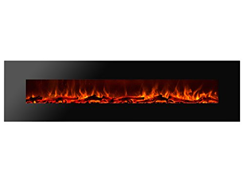 Cheap Ignis Royal 95 inch Wall Mount Electric Fireplace with Logs c SA us Certified (Could be recessed with no Heat) Black Friday & Cyber Monday 2019