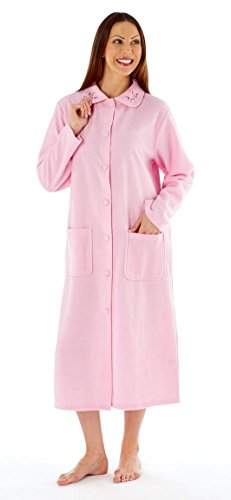 Fleece Button (Lady Selena Soft Fleece Button Gown LN472 Pink 16-18)
