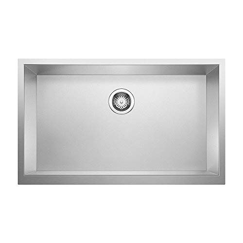 (Blanco 524223 Precision R0 Durinox Apron Kitchen Sink, Stainless Steel)