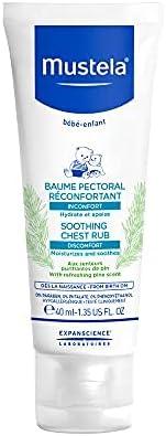 Mustela Bálsamo Peitoral Reconfortante 40 ml, Mustela Bebê, Azul, 40 ml
