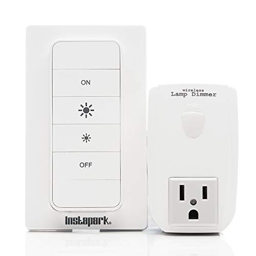 Off Dimmer Switch - Remote Dimmer Switch For Lamp Plug-In Lamp Dimmer with Wall Mount Included Easy Installation-Free Instapark 28064 Dimming Outlet