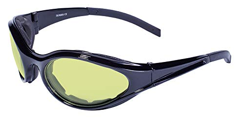 Global Vision Eyewear Windmaster Anti-Fog Sunglasses, Yellow Tint Lens Windmaster YT A/F