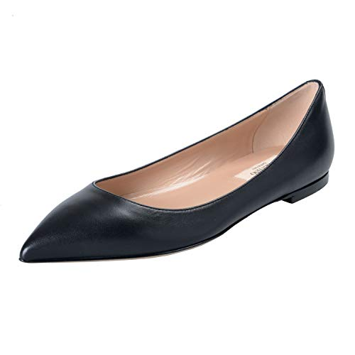Valentino Garavani Women's Black Leather Ballet Flats, used for sale  Delivered anywhere in USA
