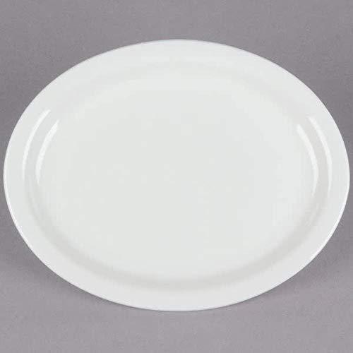 Narrow Rim American White Oval Platter 11.5 inch, Case of 12