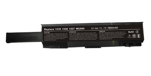 Extended life [7800mah 9 Cell 11.1V] Blcak Laptop Battery for Dell Studio 1535, 1536, 1537, 1555, 1557 Series WU946, WU960, WU965, MT276, MT264, KM905, KM904, PW773, KM887