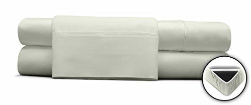 DreamFit 400TC Egyptian Cotton SPLIT King - Champagne (Adjustable Bed) Sheet Set