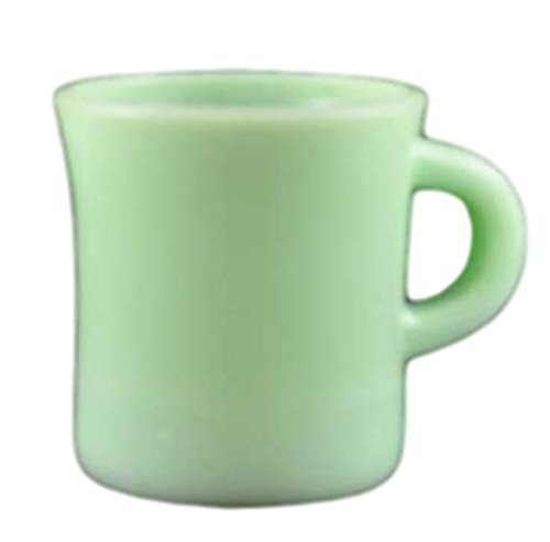 Jadeite Jadite, Jade C Handle Coffee Cup Mug (Fire King Glass Mug)