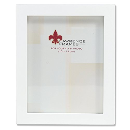 (Lawrence Frames White Wood Picture Frame, Gallery Collection, 4 by)