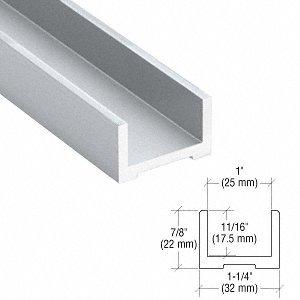 CRL/Blumcraft Satin Anodized Wet Glaze U-Channel for 3/4'' (19 mm) Glass 120''