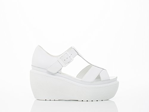 Dr. Martens Womens Adaya Plateforme Sandale Blanc