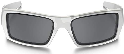Oakley Gascan Sunglasses (Multicam Alpine Frame/Black Lens) with USA Flag Lens Cleaning ()