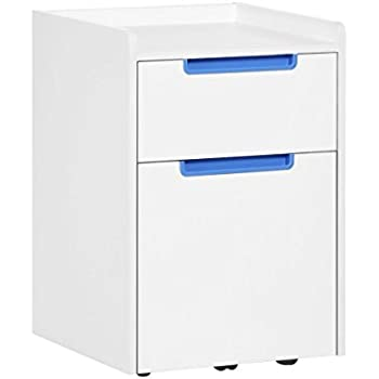 devaise 2 drawer wood mobile file cabinet with wheels letter size a4 white. Black Bedroom Furniture Sets. Home Design Ideas